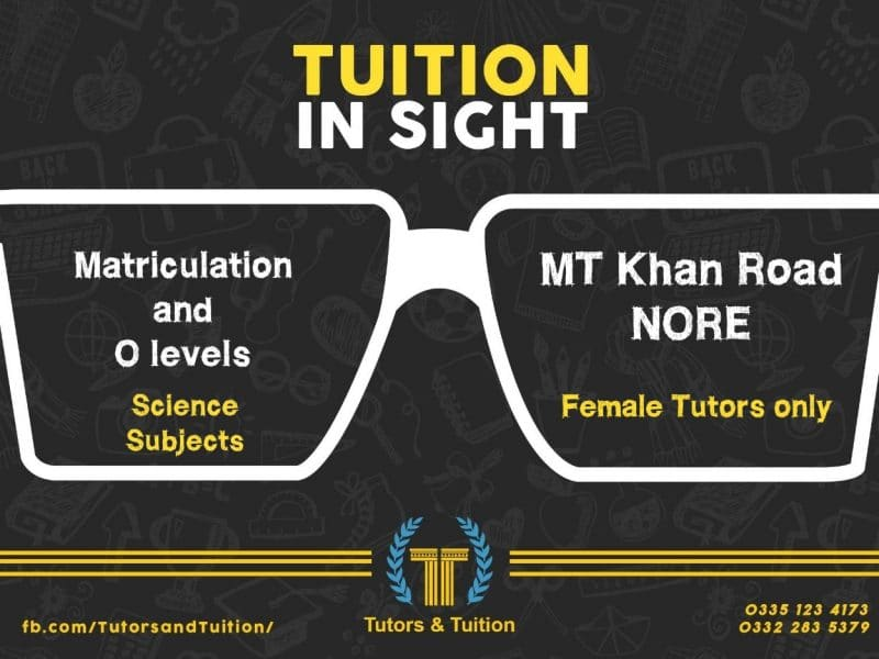 Tutor required for Matric and O levels in Tutors and Tuition