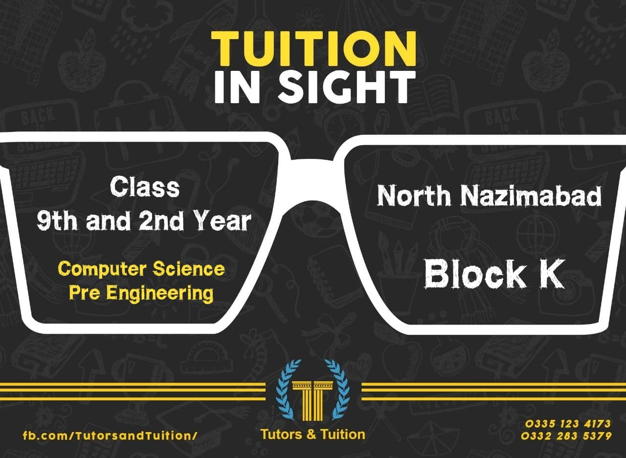 Tutor required in Tutors and Tuition
